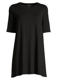 Eileen Fisher Elbow-Sleeve Stretch-Tencel Tunic