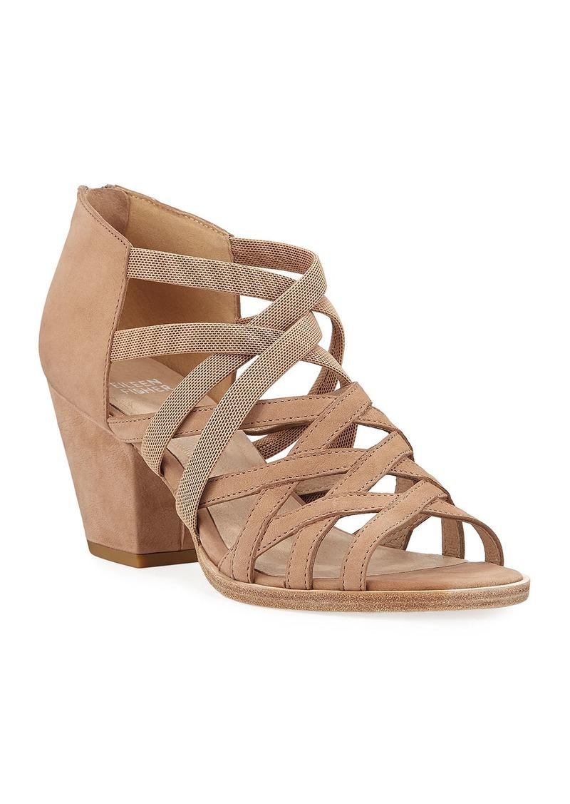 Eileen Fisher Fara Stretch Suede Sandals