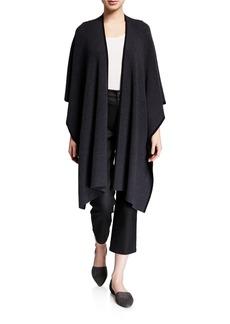 Eileen Fisher Fine Merino Wool Rib Piped Wrap