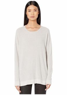 Eileen Fisher Fine Organic Cotton Silk Round Neck Top