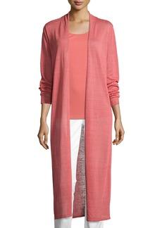 Eileen Fisher Fine Organic Linen-Blend Maxi Cardigan  Petite