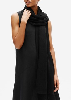 Eileen Fisher Fine Organic Linen Crepe Knit Scarf