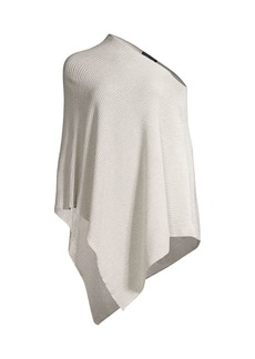 Eileen Fisher Fine Organic Linen Crepe Sparkle Poncho