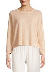 Eileen Fisher Fine Ribbed Organic Linen Sweater