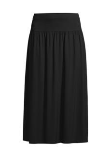 Eileen Fisher Flared Jersey Midi Skirt