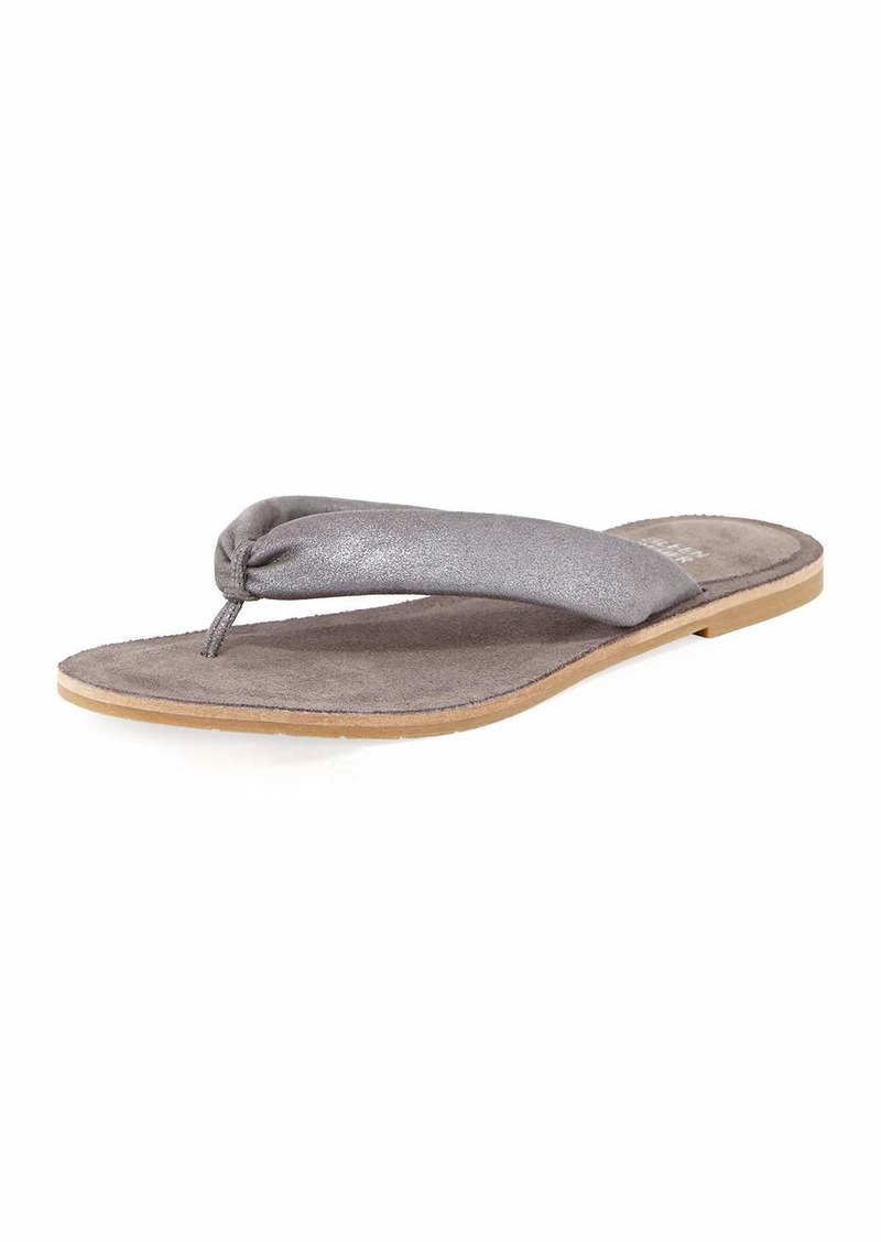 16d2ba9f043 Eileen Fisher Flue Flat Metallic Leather Thong Sandal