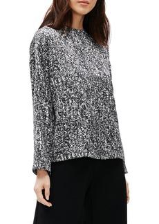 Eileen Fisher Funnel Neck Silk & Cotton Top