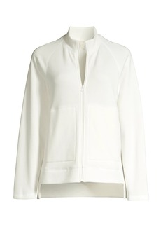 Eileen Fisher Funnel Neck Zip-Up Jacket