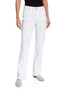 Eileen Fisher Garment Dye High-Waist Straight-Leg Jeans