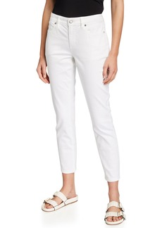 Eileen Fisher Garment-Dyed Organic Stretch Cotton Skinny Ankle Jeans