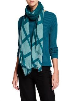 Eileen Fisher Grid Printed Wool Scarf