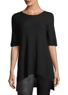 Eileen Fisher Half-Sleeve Tencel Links Sweater
