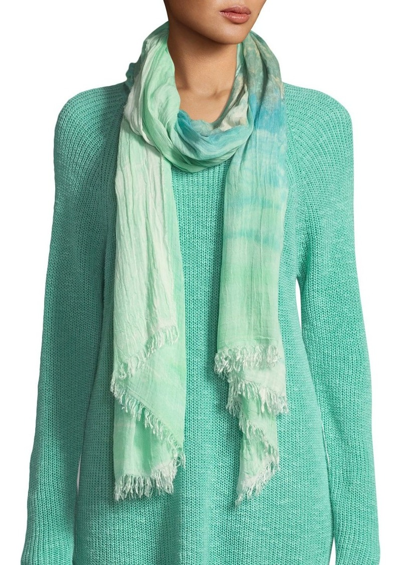 Eileen Fisher Hand-Painted Tencel Scarf