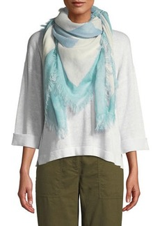 Eileen Fisher Hand-Painted Wool Scarf