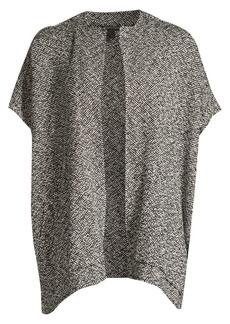 Eileen Fisher Hand-Woven Tonal Organic-Cotton Poncho Top