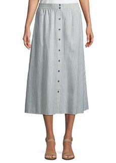 Eileen Fisher Hemp-Blend Long Striped Skirt