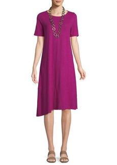 Eileen Fisher Hemp-Cotton Twist Asymmetric Shift Dress