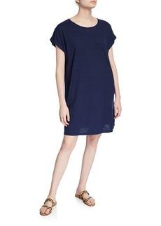 Eileen Fisher Hemp/Organic Cotton Short-Sleeve Twist Dress