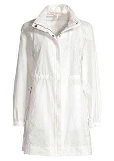 Eileen Fisher Hidden Hood Long Windbreaker Jacket