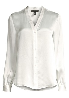 Eileen Fisher High-Back Satin Blouse