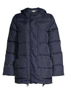Eileen Fisher High Collar Recycled Nylon Puffer Coat