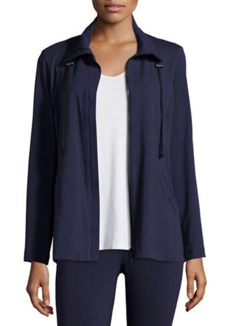 Eileen Fisher High-Collar Stretch Jersey Jacket