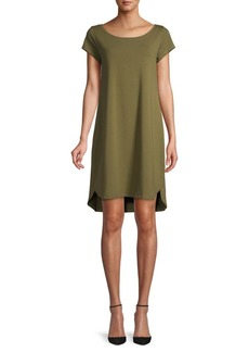 Eileen Fisher High-Low Stretch Shift Dress