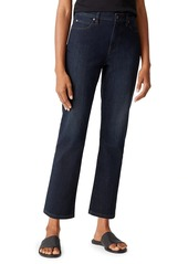 Eileen Fisher High-Rise Straight Ankle Jeans