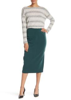Eileen Fisher High Waist Silk Blend Pencil Skirt