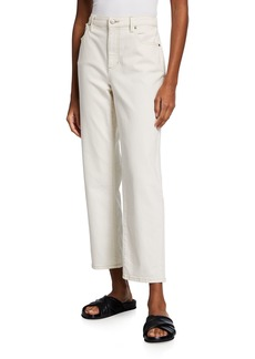 Eileen Fisher High-Waist Undyed Organic Stretch Cotton Ankle Jeans