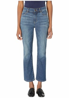 Eileen Fisher High-Waisted Ankle Bootcut Jeans in Aged Indigo