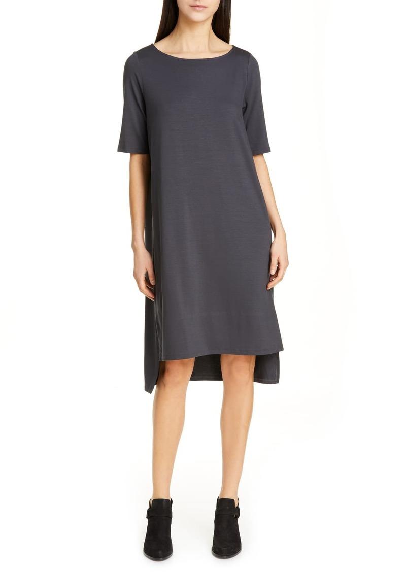 Eileen Fisher High/Low Shift Dress