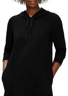 Eileen Fisher Hooded Three-Quarter Sleeve Sweater Dress
