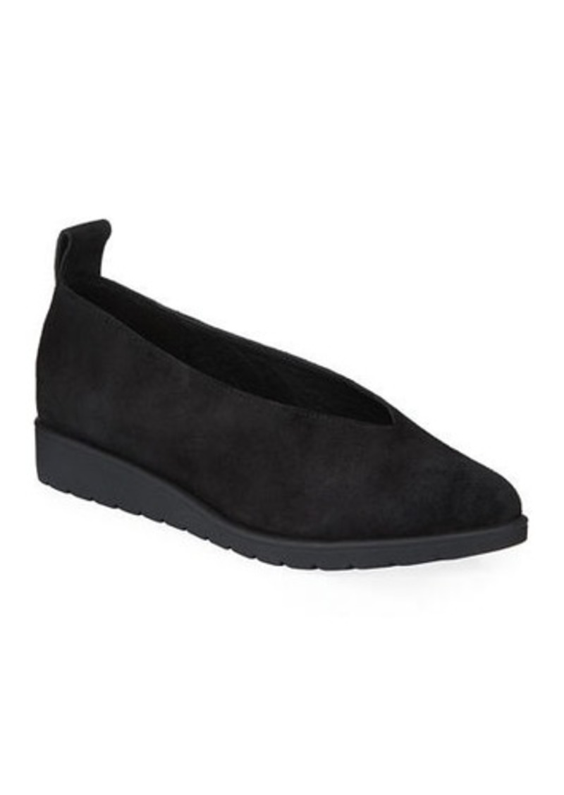 Eileen Fisher Humor Easy Suede Comfort Sneakers