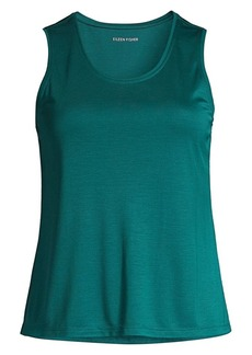 Eileen Fisher Interlock Scoopneck Tank Top