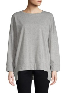 Eileen Fisher Inverted Step Hem Sweatshirt
