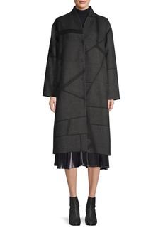 Eileen Fisher Jacquard Knee-Length Coat