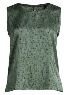 Eileen Fisher Jacquard Silk & Organic Cotton Tank Top