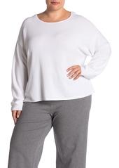 Eileen Fisher Jewel Neck Box Sweater (Plus Size)