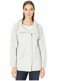 Eileen Fisher Light Organic Cotton Nylon Hooded Coat
