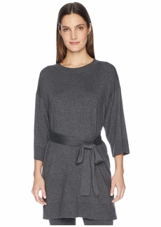 Eileen Fisher Lightweight Cozy Tencel Stretch Round Neck 3/4 Sleeve Tunic with Belt