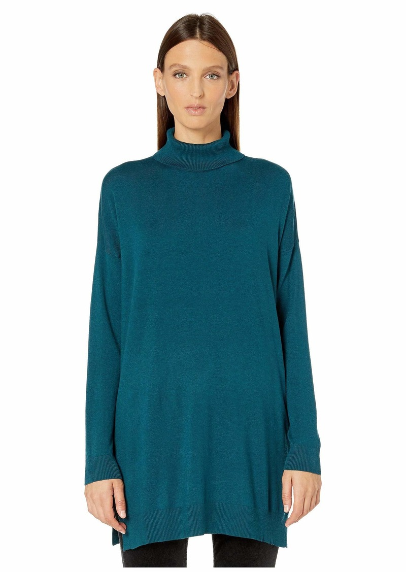 Eileen Fisher Lightweight Cozy Tencel Stretch Turtleneck Tunic