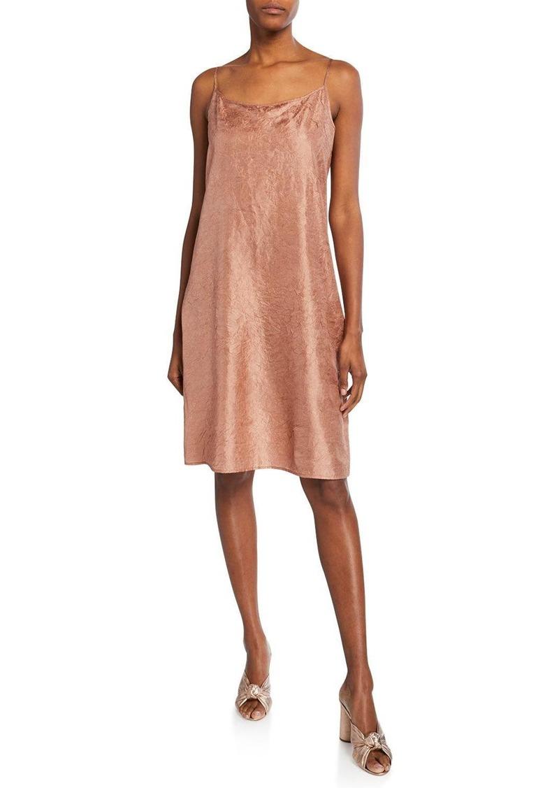 Eileen Fisher Lightweight Crushed Silk Slip Dress
