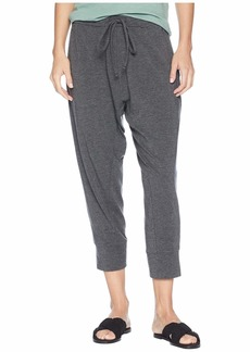 Eileen Fisher Lightweight Tencel Stretch Jersey Cropped Drawstring Slouchy Pants