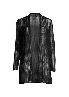 Eileen Fisher Linen-Blend Longline Cardigan