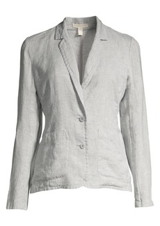 Eileen Fisher Linen-Blend Sparkle Blazer