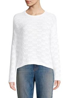 Eileen Fisher Linen Check Sweater