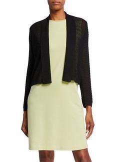 Eileen Fisher Linen Crepe Short Cardigan