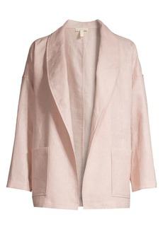 Eileen Fisher Linen Shawl Collar Jacket