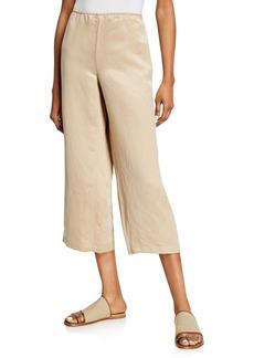 Eileen Fisher Linen/Silk Wide-Leg Crop Pants